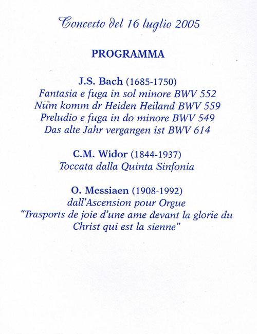 Concerti D'Organo - Francavilla al Mare